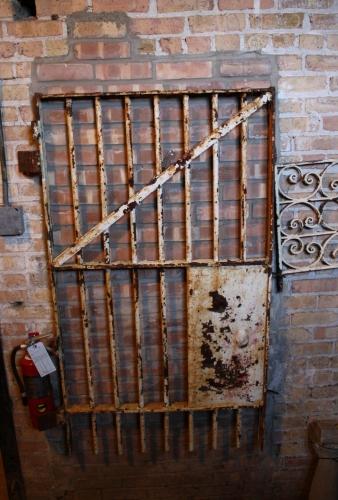 & White Iron Prison Door \u2013 Salvage One