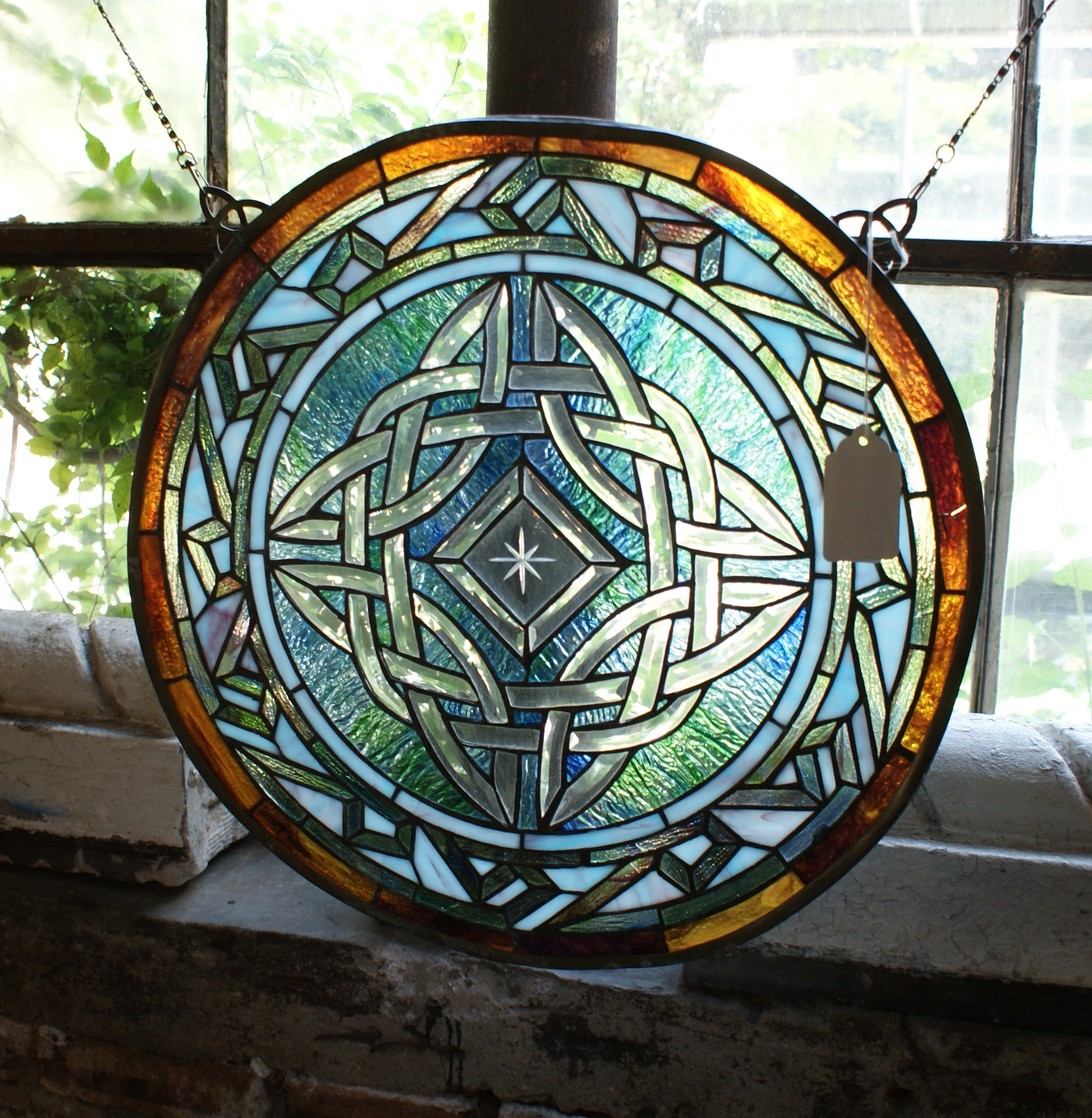 Celtic Knot Circular Stained Glass Window Salvage One : 0830295 from salvageone.com size 2176 x 2228 jpeg 1645kB
