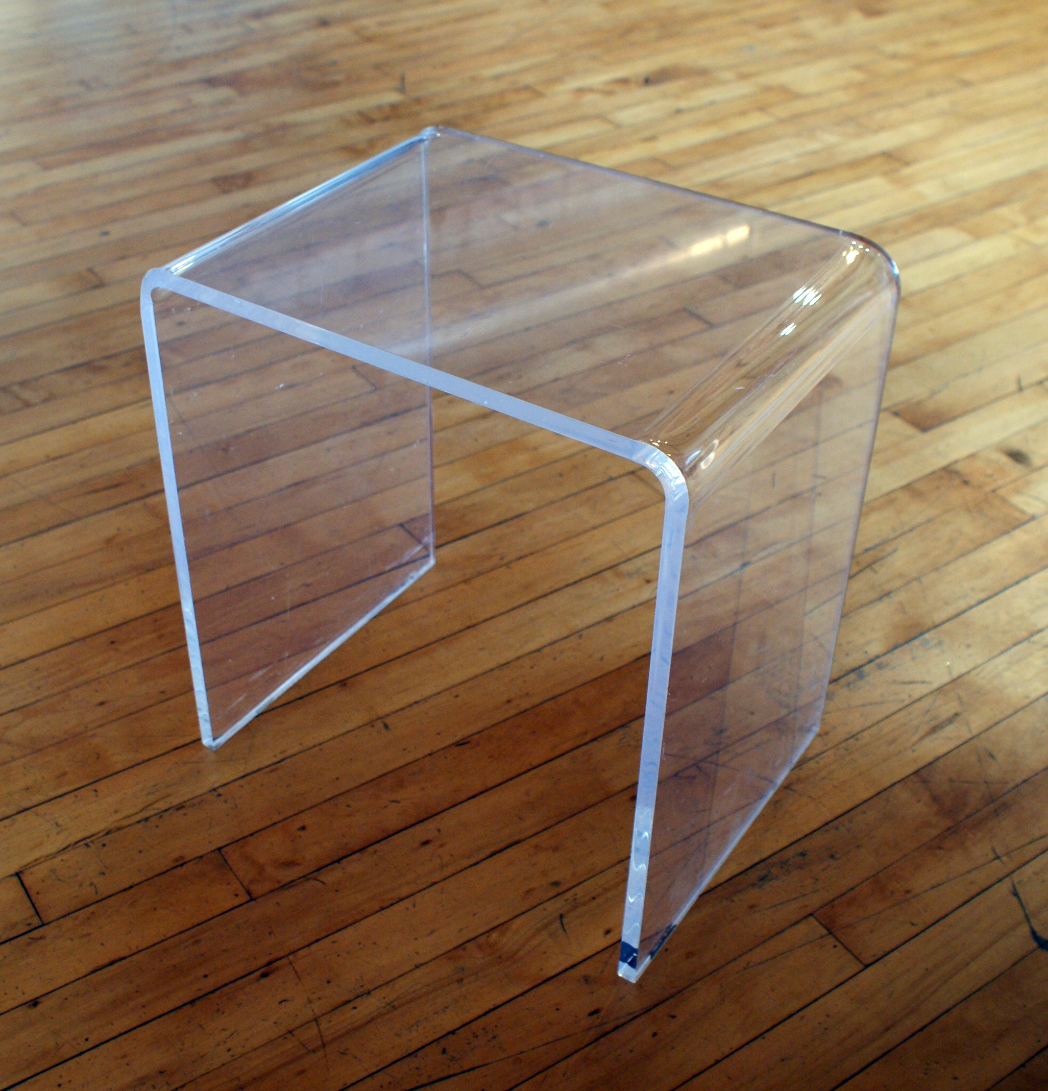 small acrylic side table salvage one. Black Bedroom Furniture Sets. Home Design Ideas