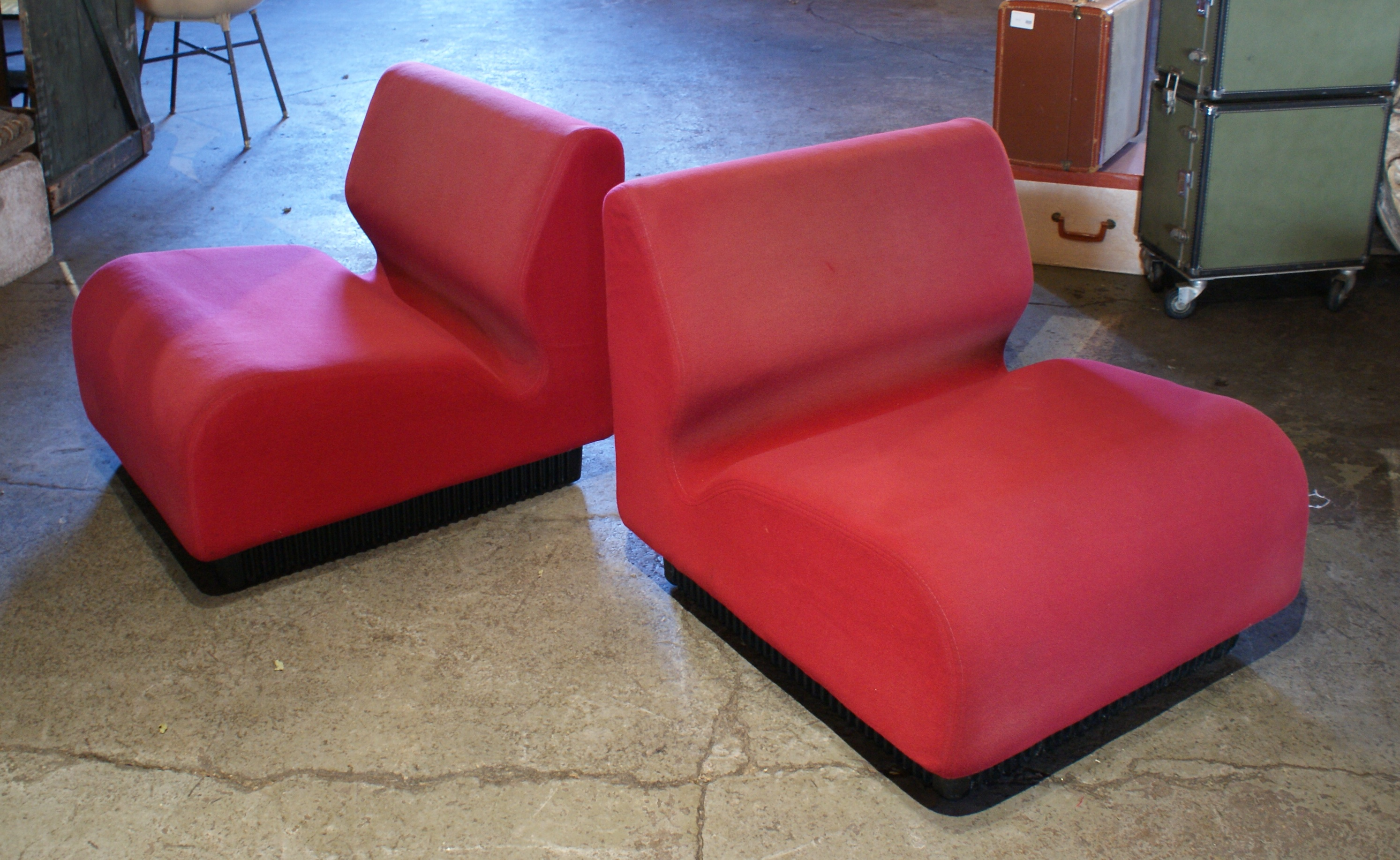 Red Slipper Chairs By Don Chadwick For Herman Miller PAIR U2013 Salvage One