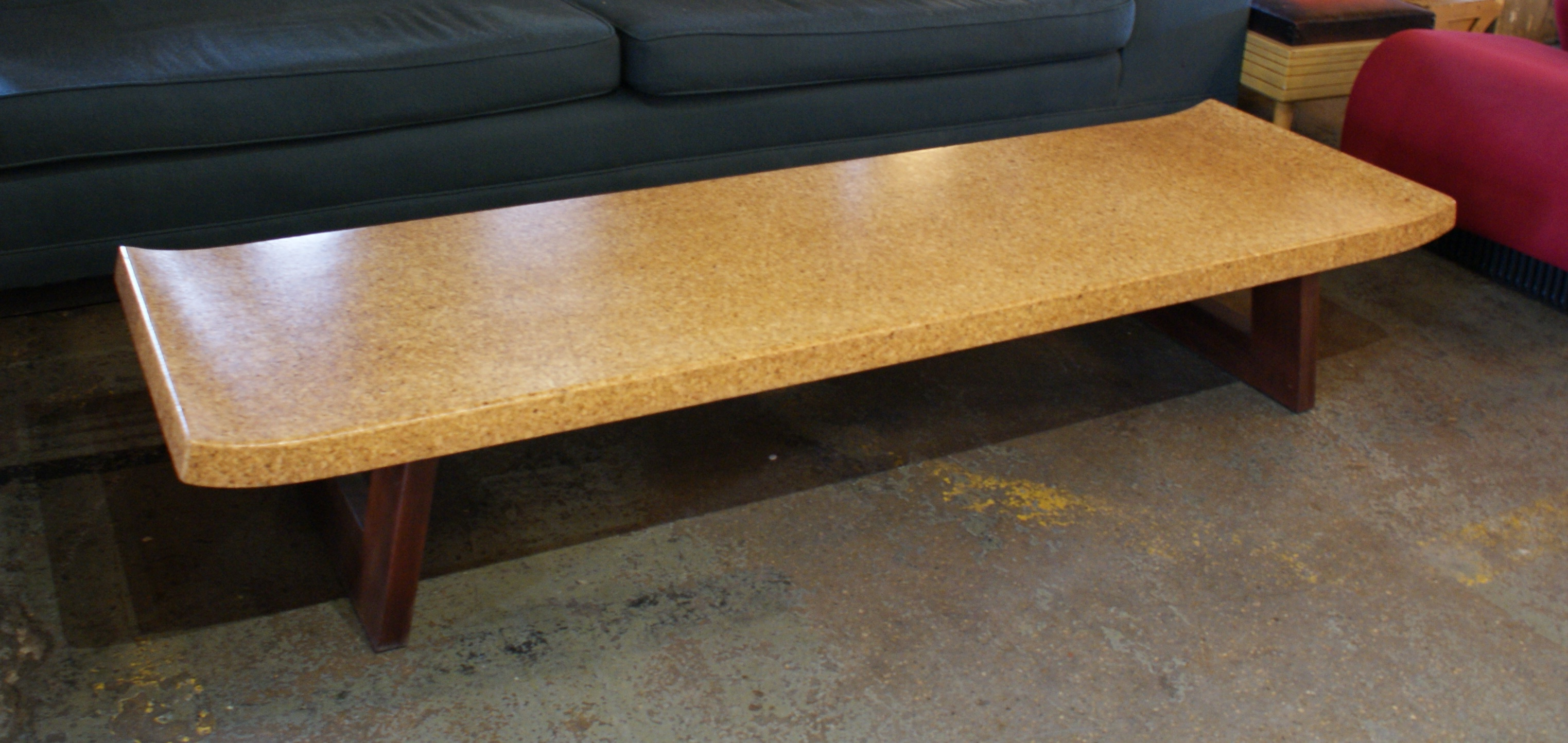 Refinished cork top coffee table by paul frankl salvage one geotapseo Gallery