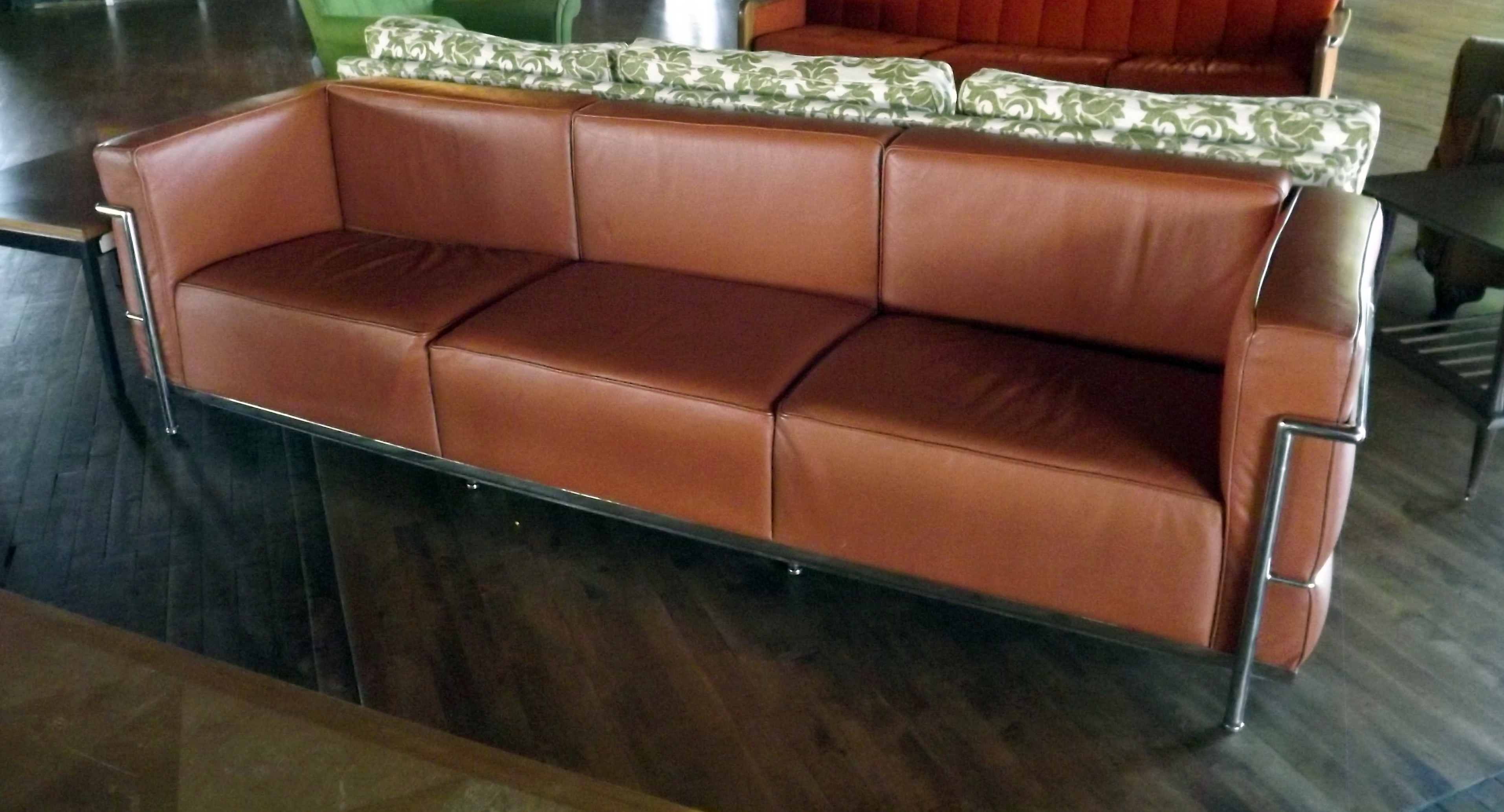 Home / Furniture / Seating / Le Corbusier LC3 Sofa Replica In Brown Leather
