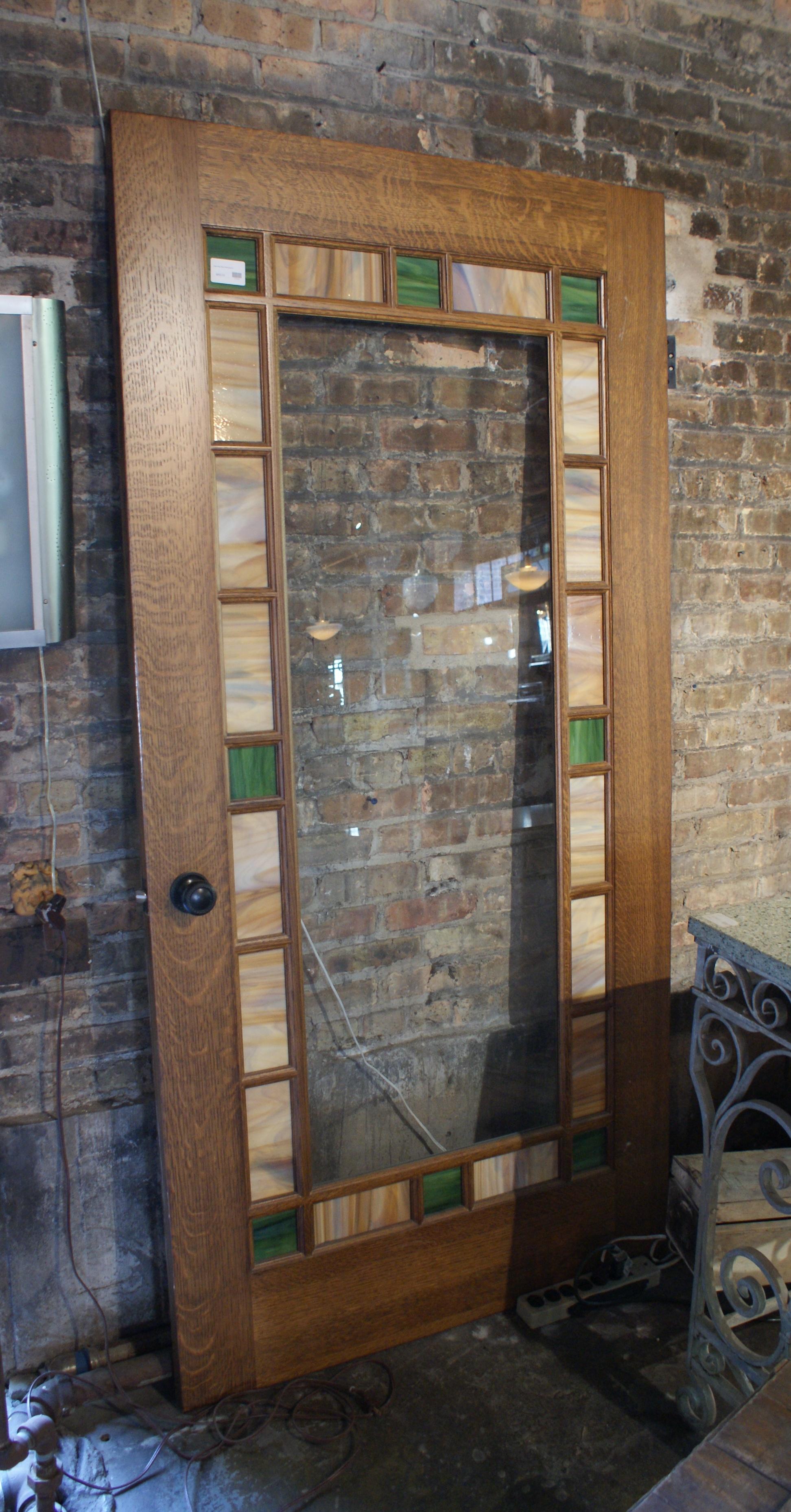 Large Slag Glass Windowed Door & Large Slag Glass Windowed Door u2013 Salvage One