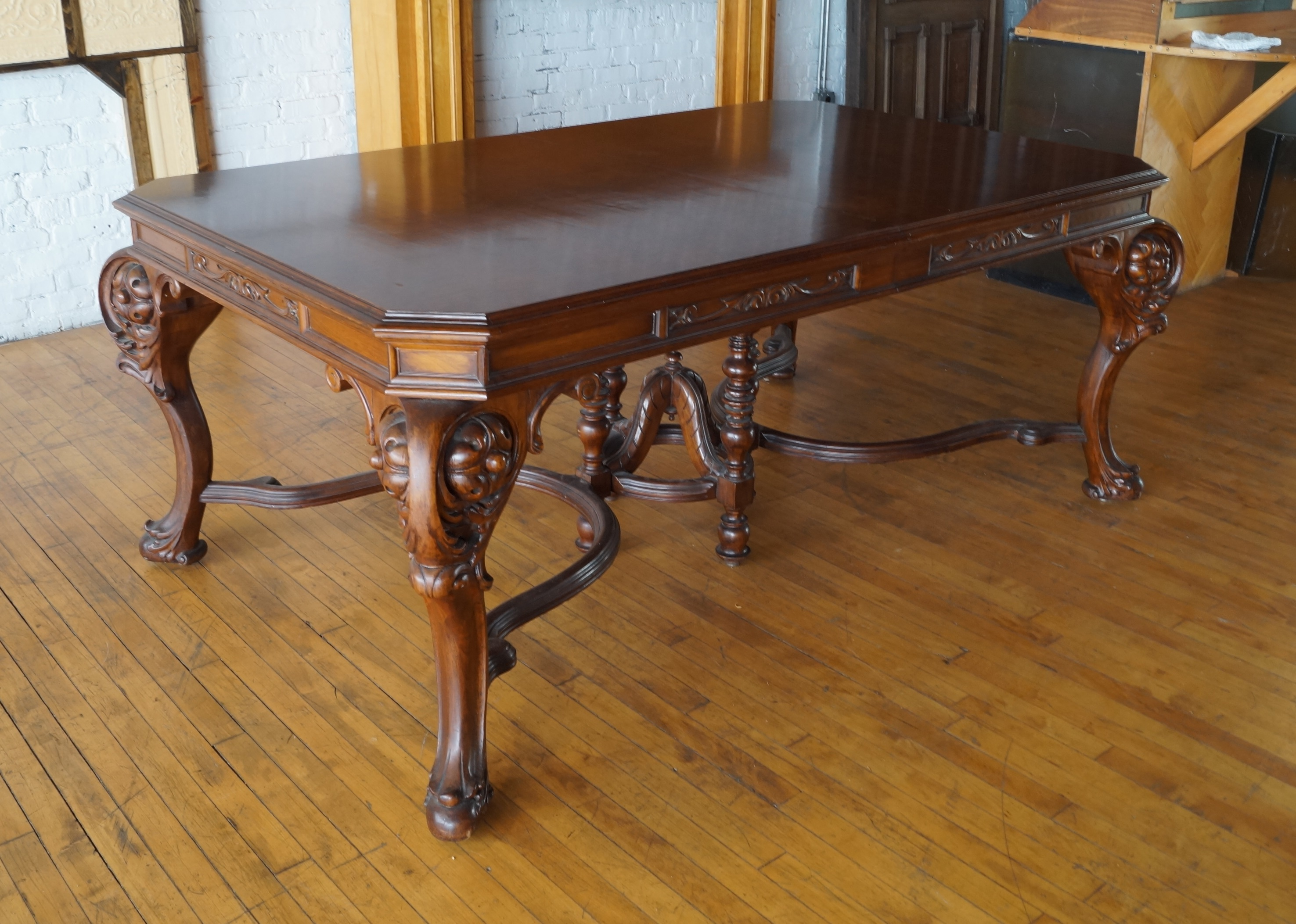 Carved Victorian Dining Table Salvage One
