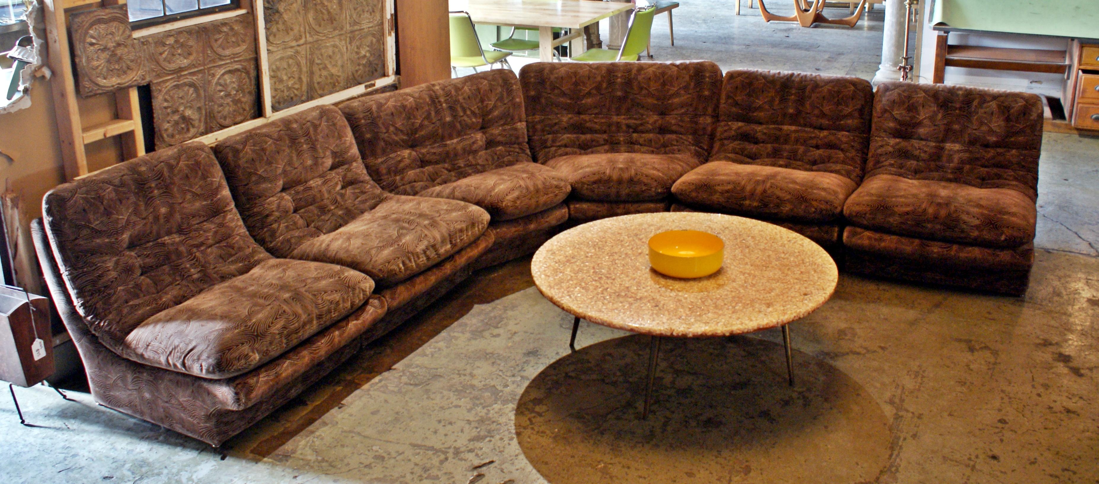 6 Piece Modular Sectional Sofa By Kagan