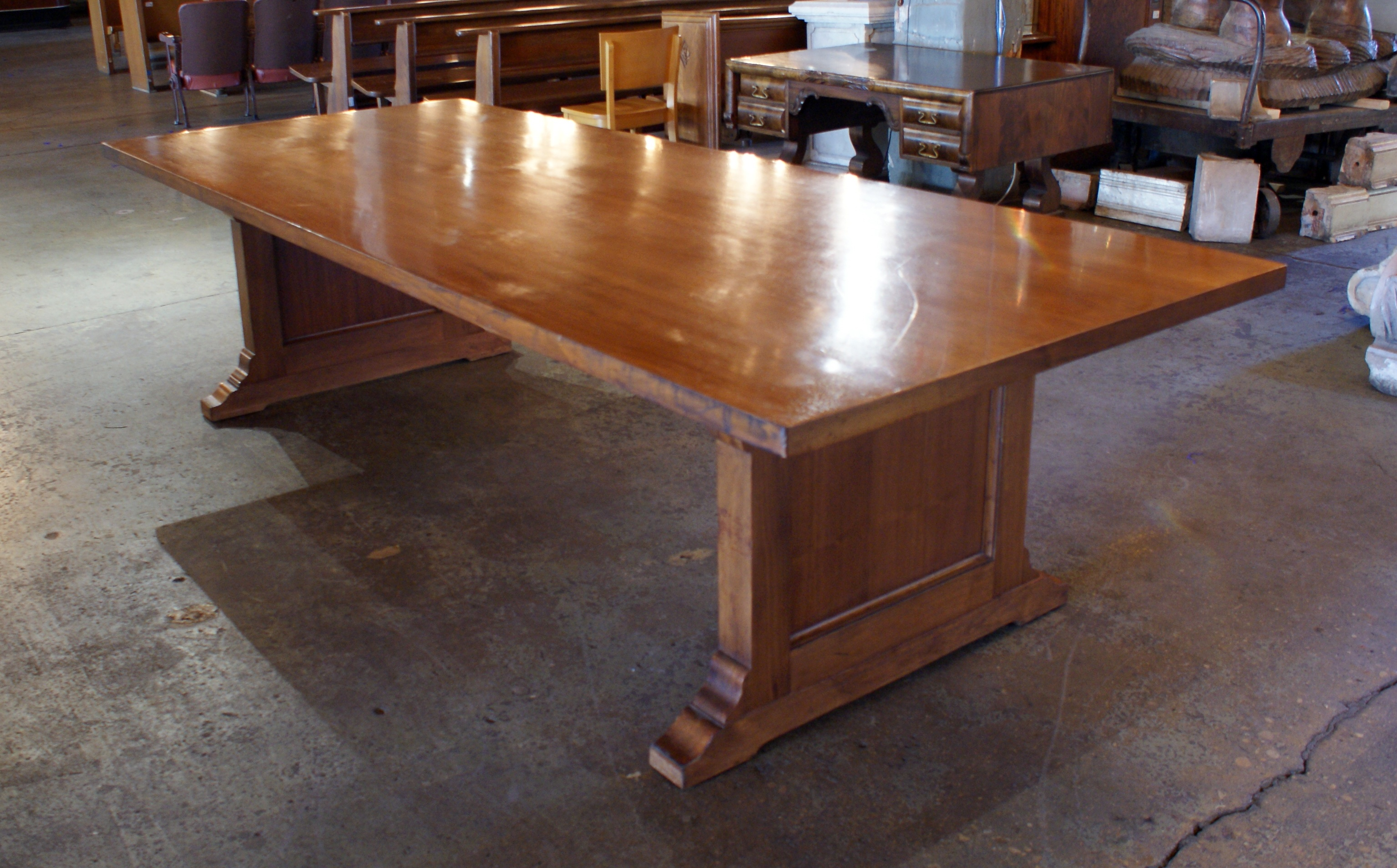 Large Antique Conference Table Salvage One - Antique conference table