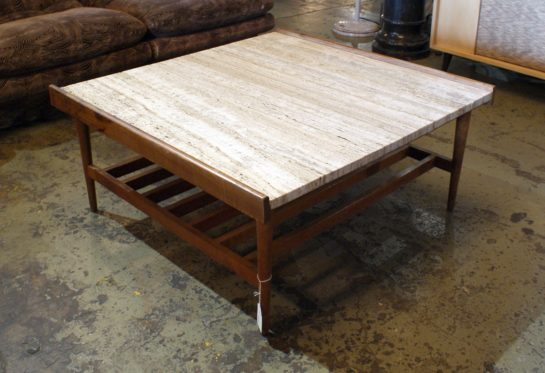 Mcm Coffee Table W Travertine Top