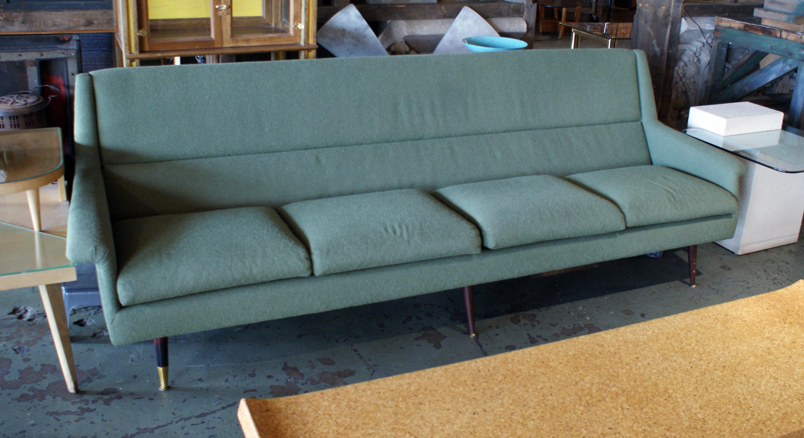 Green Danish Style Mcm Sofa