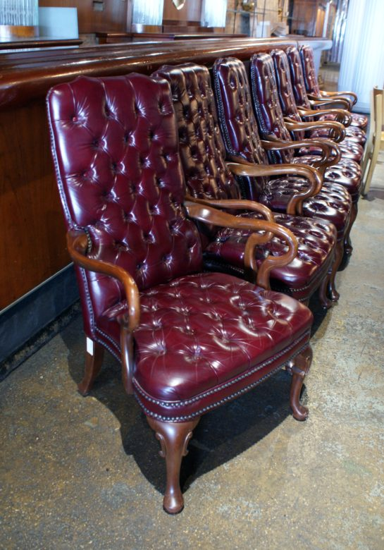 Tufted Leather High Back Office Chair Salvage One