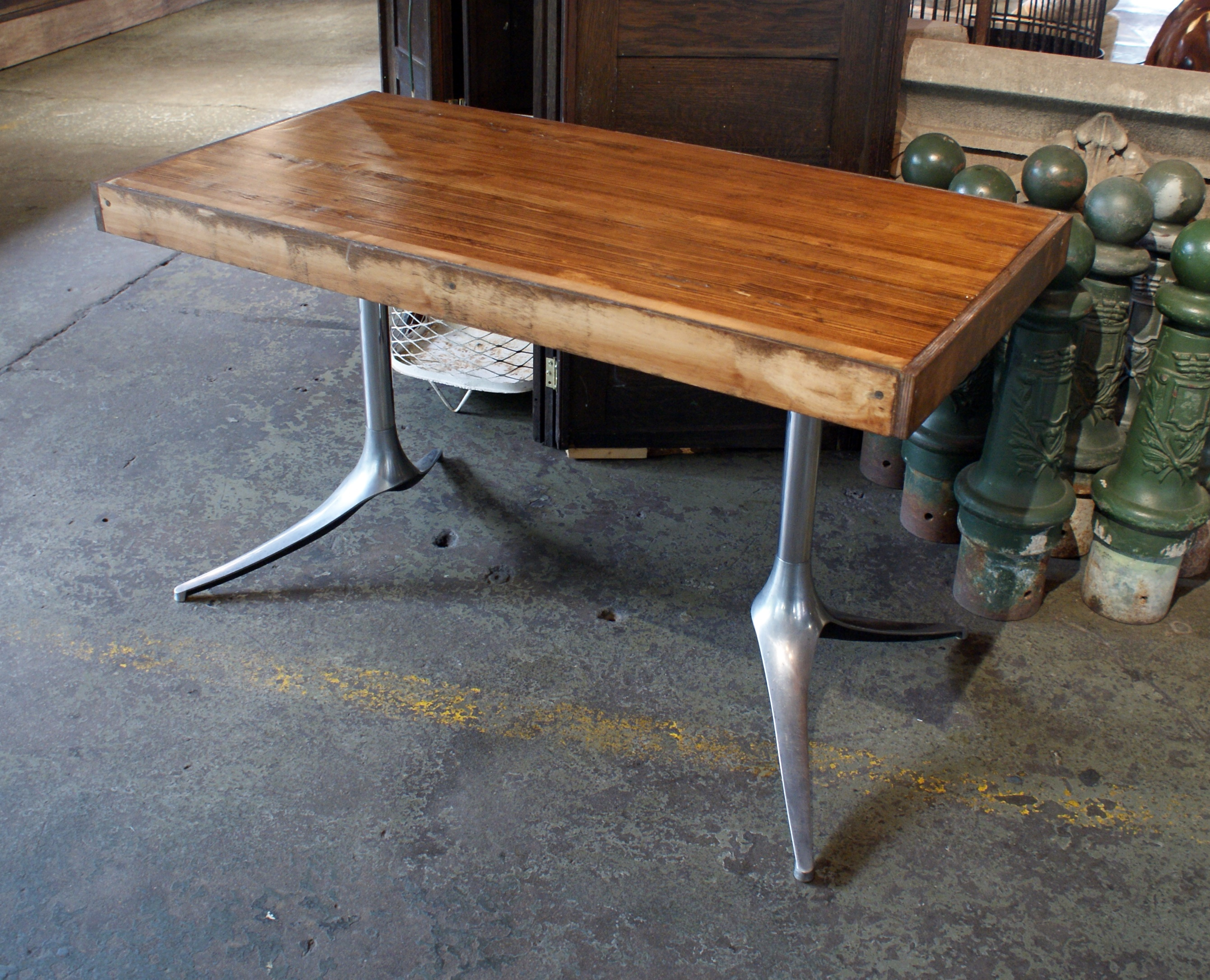Home / Furniture / Tables U0026 Desks / Small Custom Bowling Alley Lane Dining  Table W MCM Legs