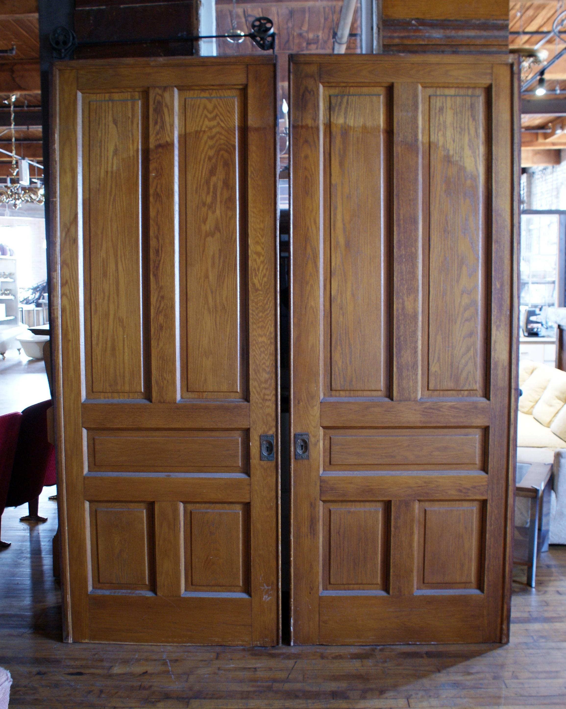 Large 5 Panel Pocket Door Pair Salvage One