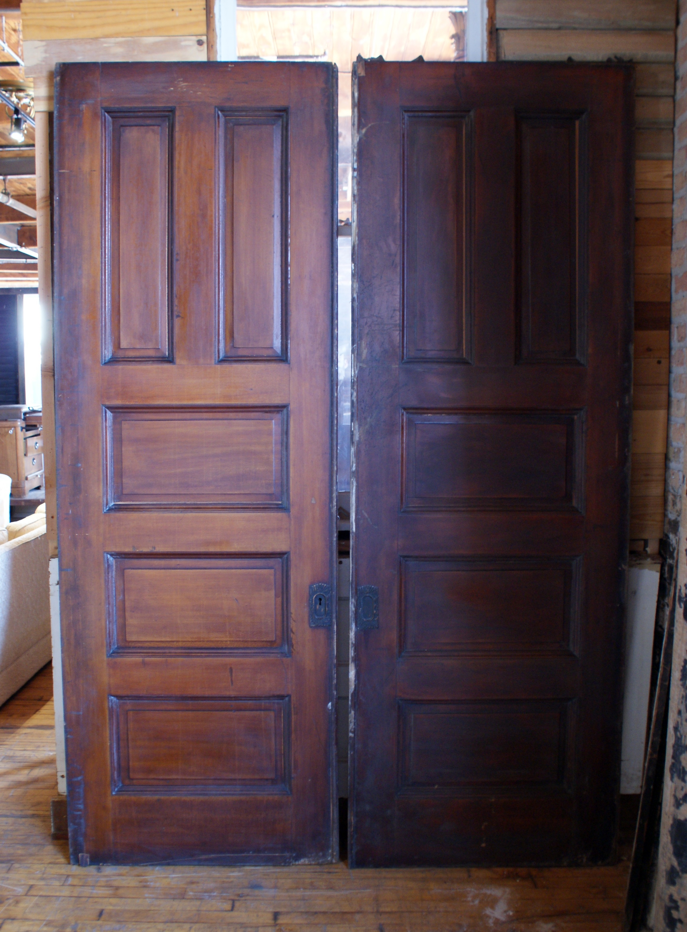 5 Panel Pocket Door Pair Salvage One