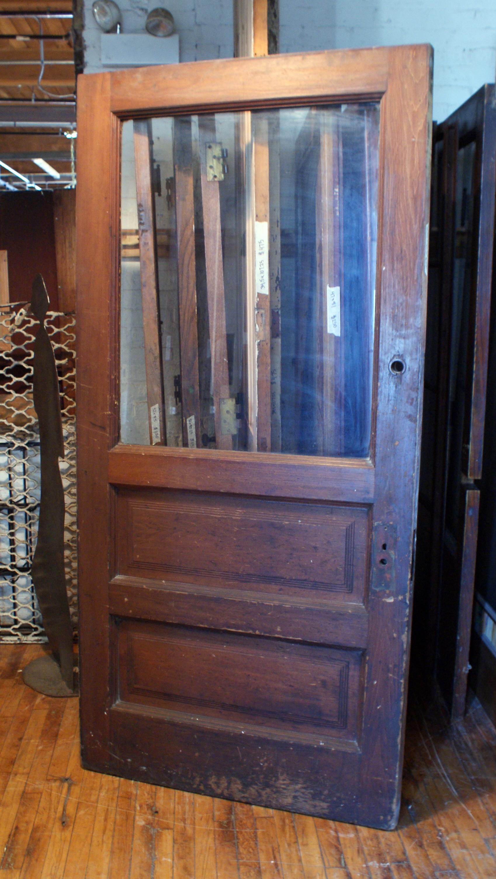 Wide 2 Panel Windowed Entry Door Salvage One