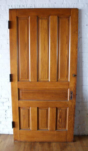 Wide 7 Panel Passage Door w Decorative Hinges & Doors u2013 Salvage One