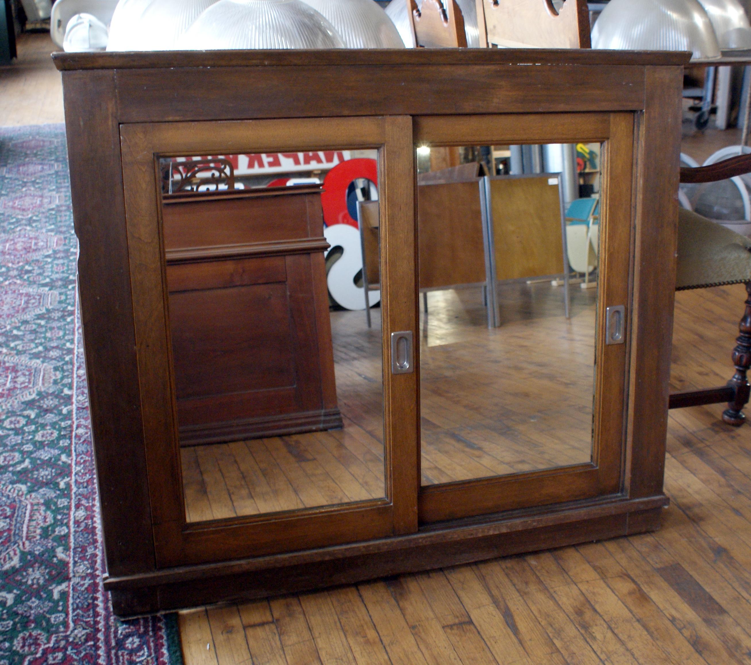 Antique Oak Sliding Door Medicine Cabinet Salvage One
