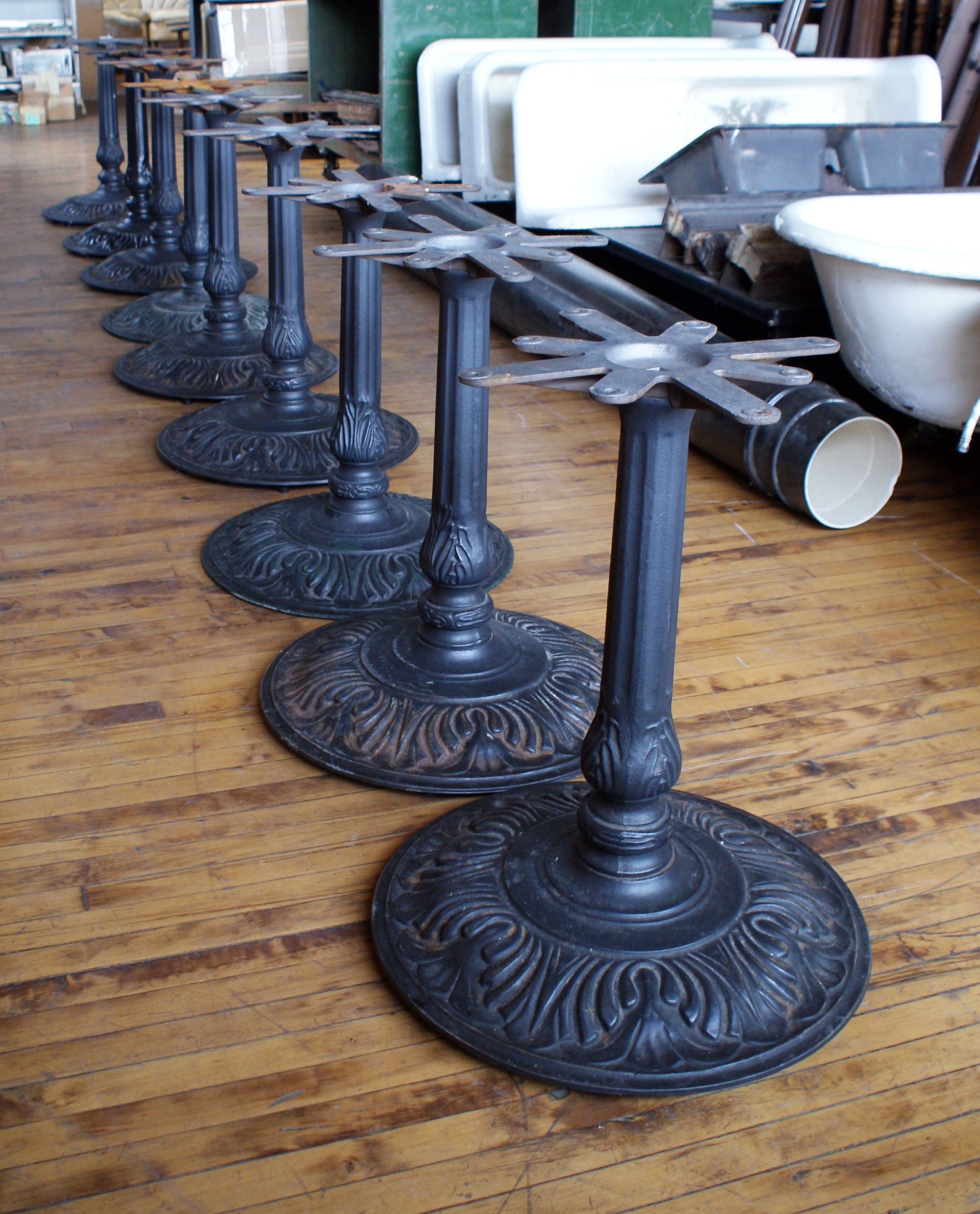 Cast Iron Cafe Table Base Salvage One